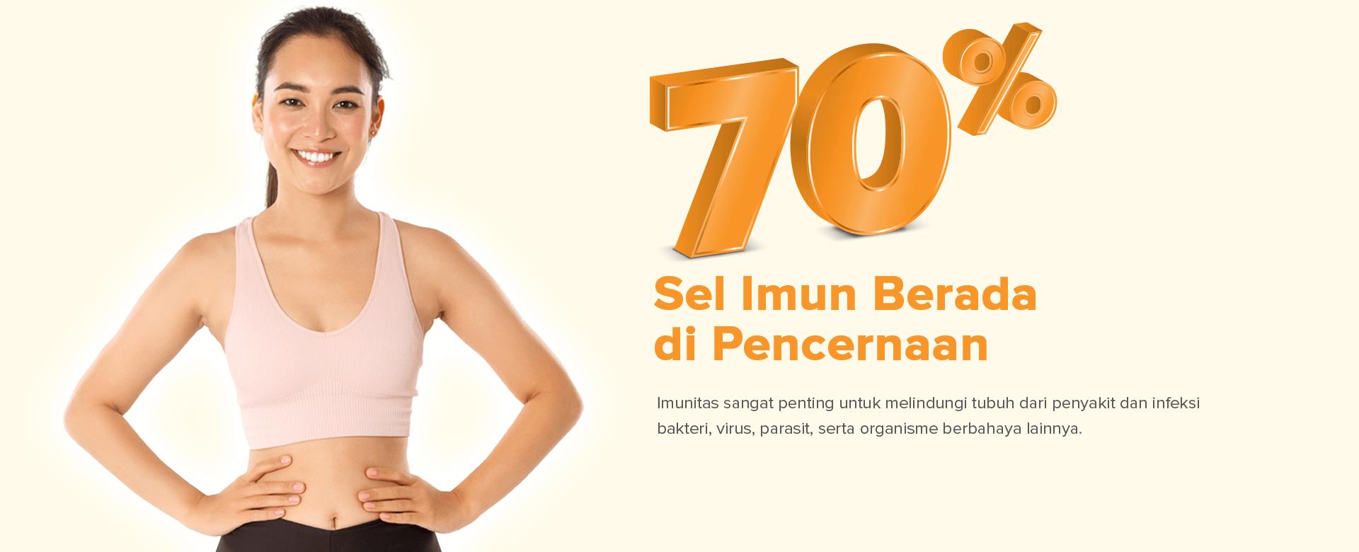 70% Sel Imun Berada di Pencernaan
